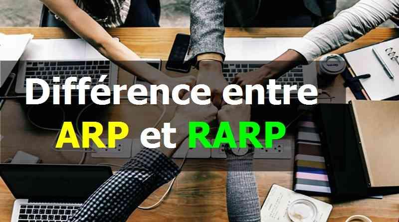 Différence entre ARP et RARP