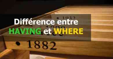 Différence entre HAVING et WHERE