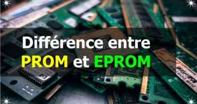 Différence entre PROM et EPROM