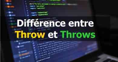 Différence entre Throw et Throws