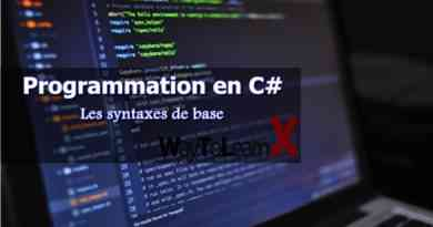 Les syntaxes de base C#