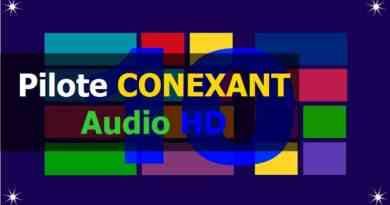 Pilote CONEXANT Audio HD sous Windows 10