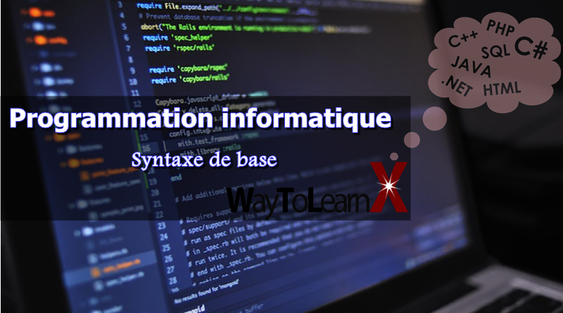 Programmation informatique – Syntaxe de base