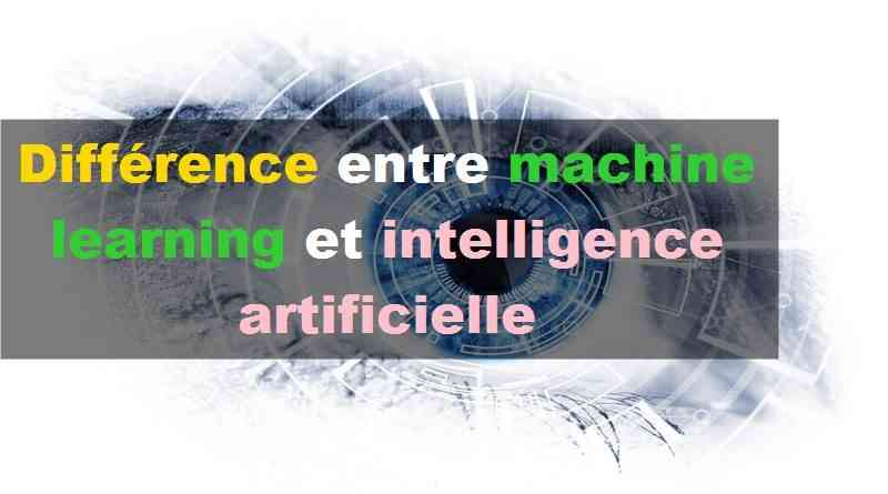 Différence entre machine learning et intelligence artificielle