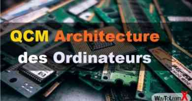 QCM Architecture des ordinateurs