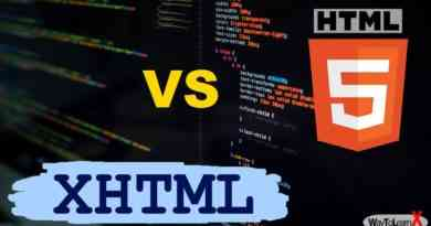 Différence entre HTML5 et xHTML