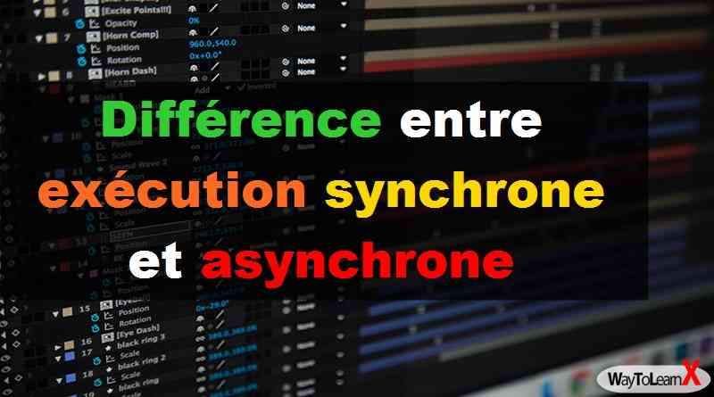 Différence entre une exécution synchrone et asynchrone