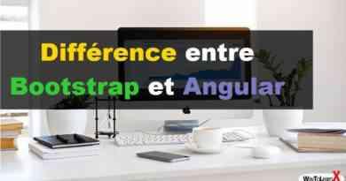 Différence entre Bootstrap et Angular