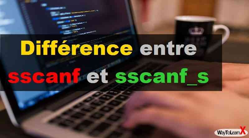 Différence entre sscanf et sscanf_s