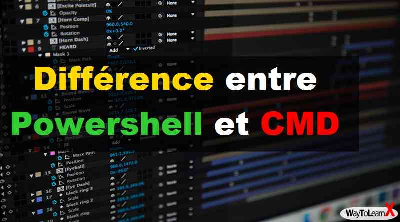 Différence entre Powershell et CMD