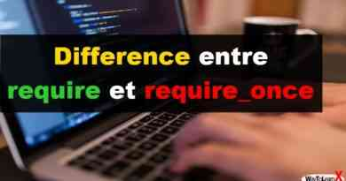 Difference entre require et require_once en PHP