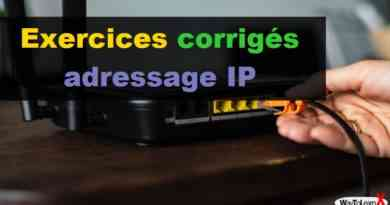 Exercices corrigés adressage IP