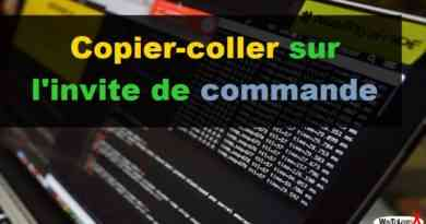 Copier-coller sur l'invite de commande - Windows 10