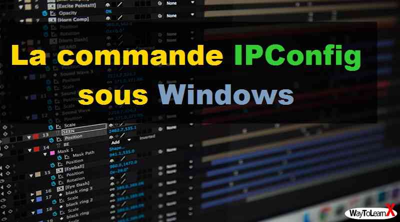 La commande IPConfig sous Windows