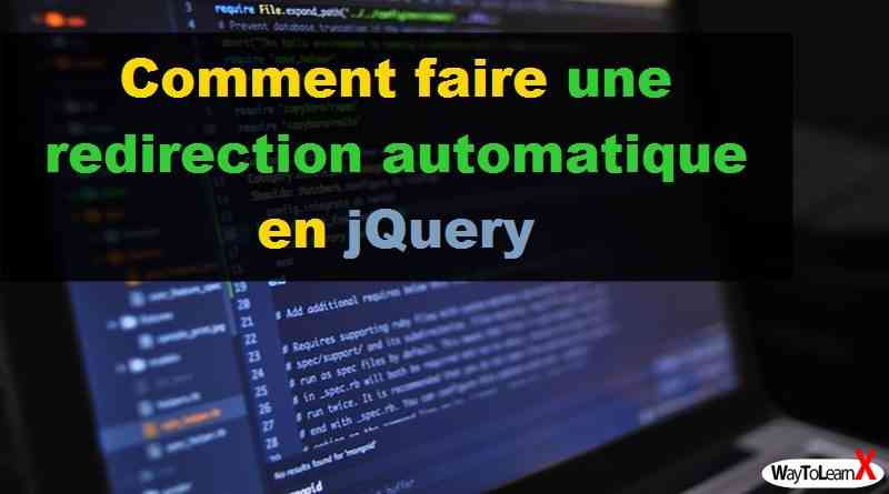 Comment faire une redirection automatique en jQuery