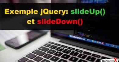 Exemple jQuery slideUp() et slideDown()