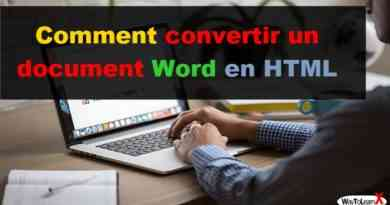 Comment convertir un document Word en HTML