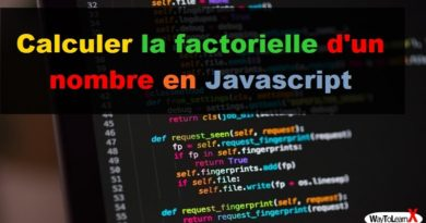 Calculer la factorielle d'un nombre en Javascript