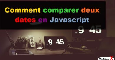 Comment comparer deux dates en Javascript