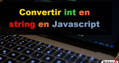 Convertir int en string en Javascript