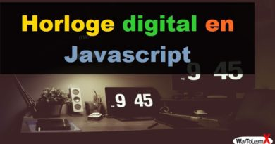 Horloge digital en Javascript