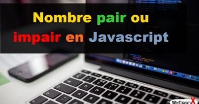 Nombre pair ou impair en Javascript