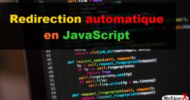 Redirection automatique en JavaScript