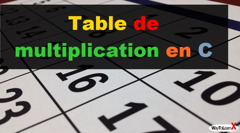 Table de multiplication en C