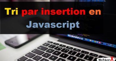 Tri par insertion en Javascript