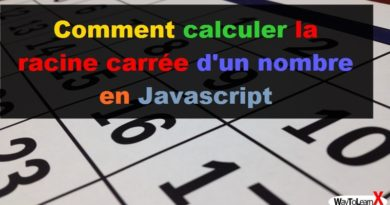 Comment calculer la racine carrée d'un nombre en Javascript