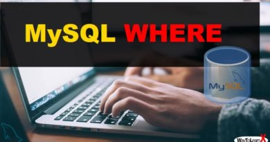 MySQL WHERE
