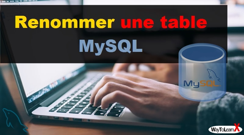 Renommer une table MySQL