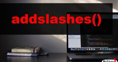 PHP addslashes
