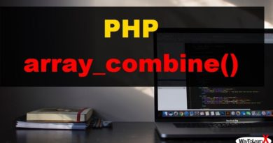 PHP array_combine