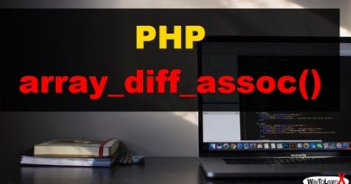 PHP array_diff_assoc