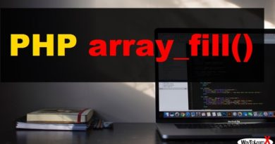 PHP array_fill