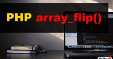 PHP array_flip