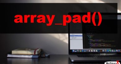 PHP array_pad