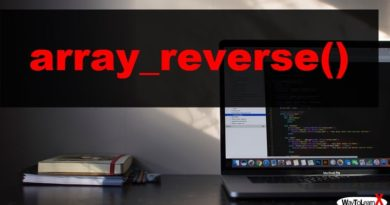 PHP array_reverse
