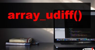 PHP array_udiff