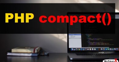 PHP compact