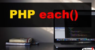 PHP each