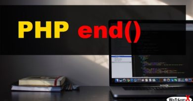PHP end