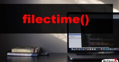 PHP filectime