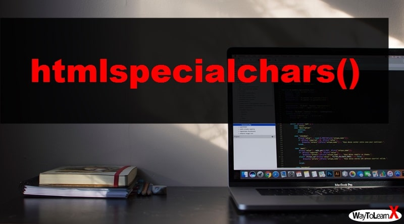 PHP htmlspecialchars