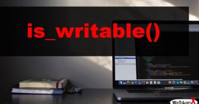 PHP is_writable