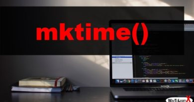 PHP mktime