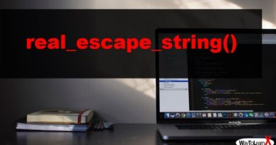 PHP real_escape_string