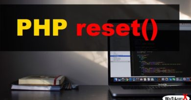 PHP reset
