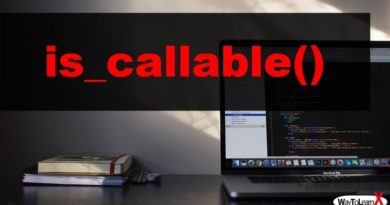 PHP is_callable